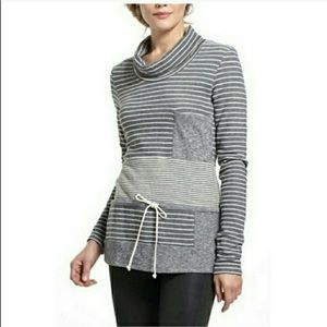 Anthropologie Saturday Sunday Stripe Cowl Pullover